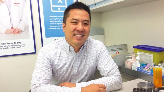 Shoppers Drug Mart community pharmacist Brian Mok