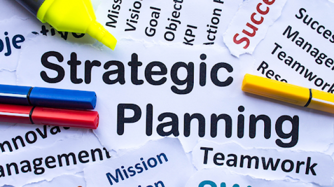 Concept art on strategic planning