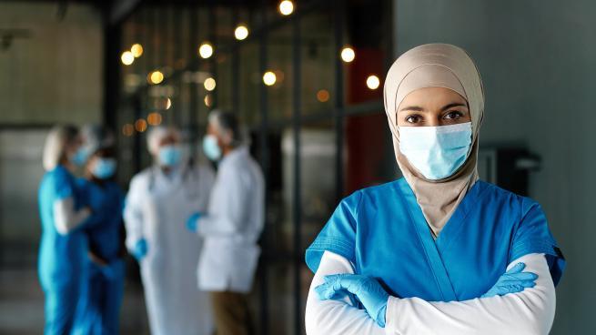 Arab woman doctor